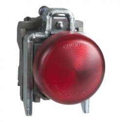 Red complete pilot light diameter: 22, plain lens with integral LED 230...240V