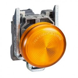 Orange complete pilot light diameter: 22, plain lens with integral LED 230...240V