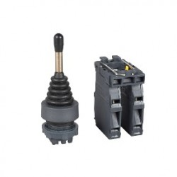 Joystick controller diam: 22, 4-direction spring return 1NO per direction