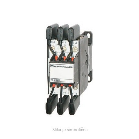 Contactor for capacitor switching  3P, 12,5 KVAR, 1NO+0NC, 230V50Hz