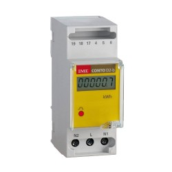 Active energy meter, multifunction, direct, 2 DIN module, 36A, LCD screen