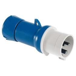 PratiKa wander plug, straight, 16 A, 2P + E, 200...250 V AC, IP44