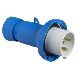 PratiKa plug, straight, 16 A, 2P + E, 200...250 V AC, IP67