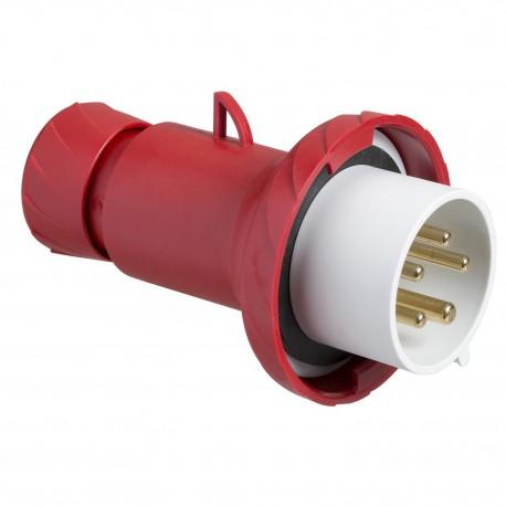 PratiKa wander plug, straight, 16 A, 3P + N + PE, 380…415 V AC, IP67