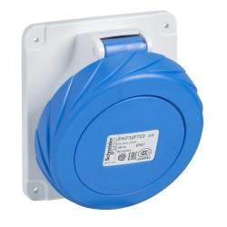 PratiKa socket, angled, 32 A, 2P + PE, 200…250 V AC, IP67