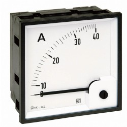 Ammeter AC RQ72E, analog, 72x72 mm, scale 0..50 A, direct measuring