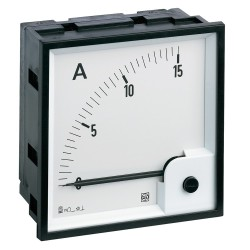 Ammeter AC, analog, 72x72 mm, scale 0..100 A