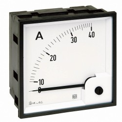 Ammeter AC RQ96E, analog, 96x96 mm, no scale, indirect 5A, 3 In