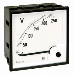 Analog meter for direct current, 96x96  mm, input: ... 0 ...+60mV dc