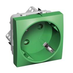 Altira utičnice, jednostruka, standardne utičnice 16 A 250 V AC 2P+E 45 stupnjeva sa zaštitom, zelena