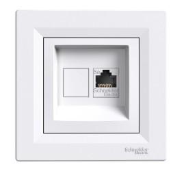 Single data outlet RJ45 Asfora, category, 5e, UTP, white