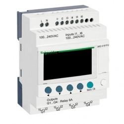 Compact smart relay Zelio Logic - 10 I O - 100..240 V AC - no clock - display