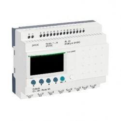 Compact smart relay Zelio Logic - 20 I O - 24 V DC - no clock - display