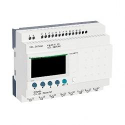 Compact smart relay Zelio Logic - 20 I O - 100..240 V AC - no clock - display
