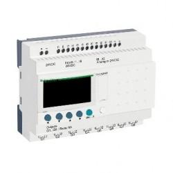 Compact smart relay Zelio Logic - 20 I O - 24 V DC - clock - display